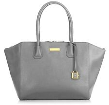 "Joy & Iman Genuine Leather ""Best Friend"" City Satchel Gray Color"