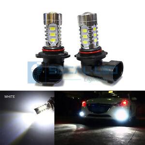 2x Xenon White HB3 9005 LED DRL Bulbs 15W SMD 5730 High Bright Daytime Running