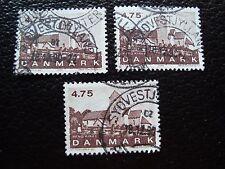 DANEMARK - timbre yvert et tellier n° 990 x3 obl (A33) stamp denmark