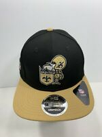 New Era NFL 9FIFTY Retro Black New Orleans Saints SnapBack Flat Bill, NEW!