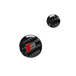 Carbon Fiber Multimedia Knob Sticker Trim for Audi A6 S6 C7 2012-2018
