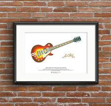 Pete Townshend's Cherry Sunburst Gibson Les Paul Deluxe #8 ART POSTER A3 size