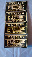 4 Security Burglar Alarm Decal  Warning Sticker Signs Decals 3 1/4 x 1/34 inches