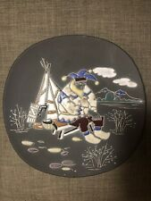Awf Norge Plate, Man W/Tipi Approx. 12-3/4� Dia.