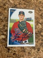 Ben Tootle Signed 2010 Topps Pro Debut Rc Auto Minnesota Twins