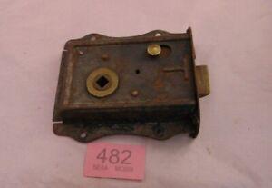Antique  Brass And Steel Rim Door Lock  482