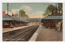 THE RAILWAY STATION, CAMBUSLANG: Lanarkshire postcard (C14462)