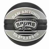 Spalding NBA Official Team Logo Ball San Antonio Spurs Durable Rubber Basketball