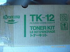 Kyocera Mita TK-12 Microfine Ceramic Toner Kit Black Genuine New