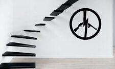 No Guns Pacifism Sign Simbol Mural Wall Art Decor Vinyl Sticker z425