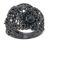 Disney Couture Snow White Black Flower Lace Ring for Women - Size 6 - New