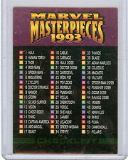 1993 MARVEL MASTERPIECES SINGLE CARDS, PICK ONE, ALWAYS FREE SHIPPING