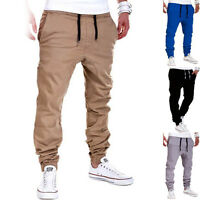 Men's Jogger Pants Hip Hop Harem Casual Trousers Slim Fit Elastic Tracksuit
