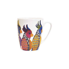 More details for queens paradise birds parakeets mug fine china 300ml oak design from churchill