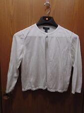 Chaps Women's XL White 56% Cotton 44% Viscose long sleeve Bolero