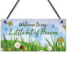 Welcome Garden Hanging Sign Garden Shed SummerHouse Plaque NAN Gifts for Her