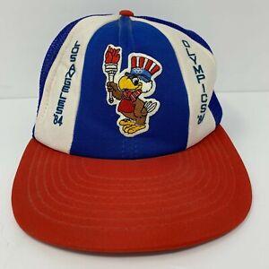 Vintage Los Angeles 1984 Olympics Hat Sam The Eagle Trucker Snapback Mesh Cap