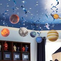 Solar System Hanging Swirl Decorations Outer Space Party Planet Supplies S