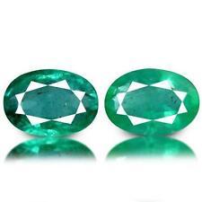 Slight Oval Loose Natural Emeralds