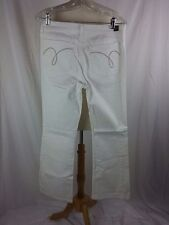 Ashley Judd Size 10 White Denim Jeans Comfy Feel Cotton Spandex 32 x 31