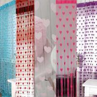 1x2m Fashion Beauty Heart Tassel String Door Curtain Window Room Divider Valance