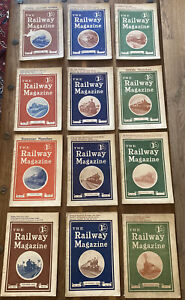 The Railway Magazine 1922, full set of 12 copies for the year 1922