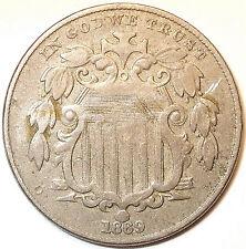 New listing 1869 Shield Nickel. Copper/Nickel. L@K!