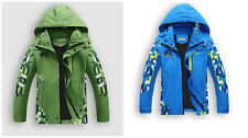 Boys Raincoat Windproof Waterproof Sports Camping Sailing Outwear