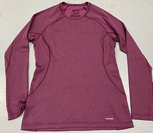 PATAGONIA WOMENS CAPILENE 3 LONG SLEEVE TOP MIDWEIGHT Extra Small Maroon