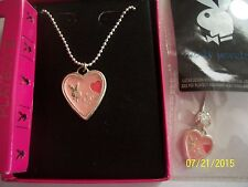Orginal Playboy  Pink Heart Belly Ring with Matching Necklace..