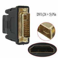 DVI-I (24+5)= 25 Pin MALE TO HDMI FEMALE ADAPTER Gold Plated CONVERTER CONNECTOR