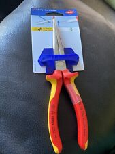 Knipex KPX2616200 VDE Long Snipe Nose Side Cutting Pliers 200mm
