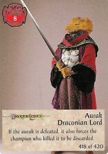 Spellfire - 1st Edition Chase #418 - 1st/418 - Aurak draconien Lord-d&d