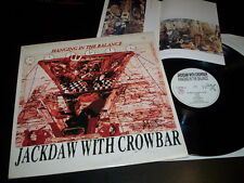 "Jackdaw With Crowbar ""Hanging In The Balance"" LP insert Hax ‎– HAX 04 Italy 1991"