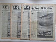 AILES 1935 753 HP-51 FARMAN 224 BLOCH DC-2 ETHIOPIE ITALIA POU BATTEN PLANEUR