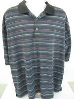 Ben Hogan Performance Collection 3XL Striped Short Sleeve Polo Golf Shirt