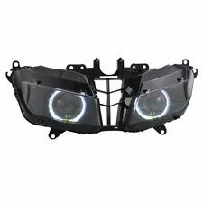 ABS White Angel Eyes HID Headlight Assembly for Honda CBR600RR 2013-18
