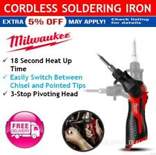 Milwaukee Cordless Soldering Iron 12V Li-Ion M12 Skin Tool with LED Indicator