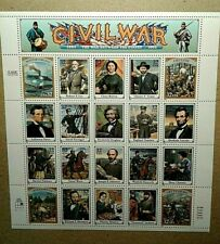 SHEET OF 20 CIVIL WAR CLASSICS 32 CENT USPS STAMPS