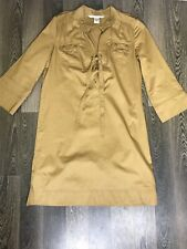 Diane Von Furstenberg  Brown Long Sleeve Size 8 Tunica Dress Shirt Top