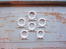 SHABBY n CHIC FURNITURE APPLIQUES * BABY WREATHS (6) * FLEXIBLE * PAINTABLE