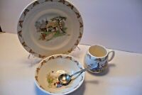 BUNNYKINS PLATE CUP BOWL ,SPOON , ROYAL DOLTON MADE IN ENGLAND