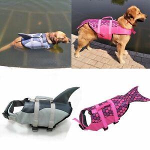 Swimsuit Dog Life Jacket Pet Safety Clothes Mermaid Shark Puppy Surf Saver Coat