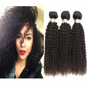 "3Bundles 10"" Brazilian Jerry Curly Hair Weave 100% Virgin Human Hair Extensions"