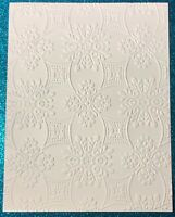 """EMBOSSING CARD FRONTS SET OF 4 /""""HAPPY BIRTHDAY WITH DOTS/"""" SHEETS WHITE CARDSTOCK"""