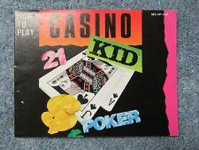 Casino Kid manual - no game .... NES Nintendo