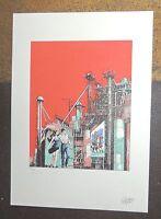 FORTON. Bob Morane. Tirage couleurs n°73/99 signé - Format 26 x 36,5 cm