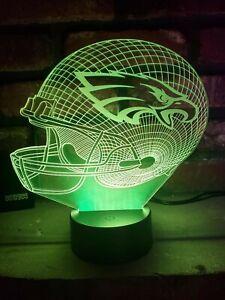 New Philadelphia Eagles Multi Color LED Helmet 3D Lamp / Night Light / Man Cave