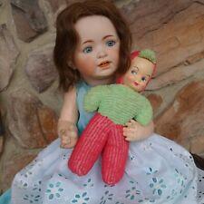 Antique German Doll George Borgfeldt, G. B. Bisque Head w/Toy Celluloid Face