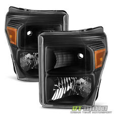 Blk 2011-2016 Ford F250 F350 F450 Super Duty Headlights Signal Lamps Left+Right